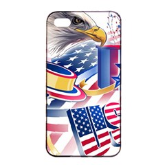 United States Of America Usa  Images Independence Day Apple Iphone 4/4s Seamless Case (black)