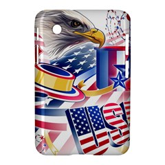 United States Of America Usa  Images Independence Day Samsung Galaxy Tab 2 (7 ) P3100 Hardshell Case  by Sapixe