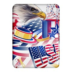 United States Of America Usa  Images Independence Day Samsung Galaxy Tab 4 (10 1 ) Hardshell Case  by Sapixe