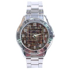 Unique Pattern Stainless Steel Analogue Watch