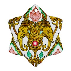 Traditional Thai Style Painting Ornament (snowflake) by Sapixe