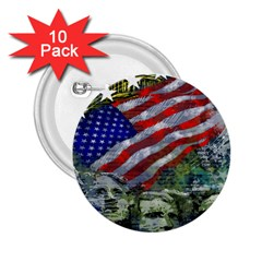 Usa United States Of America Images Independence Day 2 25  Buttons (10 Pack)  by Sapixe