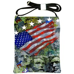 Usa United States Of America Images Independence Day Shoulder Sling Bags by Sapixe