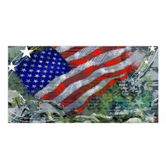 Usa United States Of America Images Independence Day Satin Shawl by Sapixe