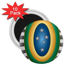 Seal Of The Brazilian Army 2 25  Magnets (10 Pack)  by abbeyz71