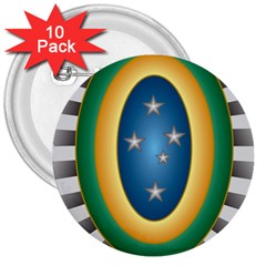 Seal Of The Brazilian Army 3  Buttons (10 Pack)  by abbeyz71
