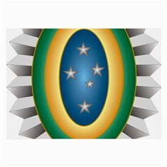 Seal Of The Brazilian Army Large Glasses Cloth (2 Side) by abbeyz71