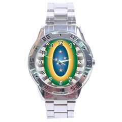 Seal Of The Brazilian Army Stainless Steel Analogue Watch by abbeyz71