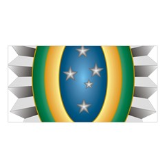 Seal Of The Brazilian Army Satin Shawl by abbeyz71