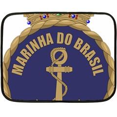 Seal Of Brazilian Navy  Double Sided Fleece Blanket (mini)  by abbeyz71