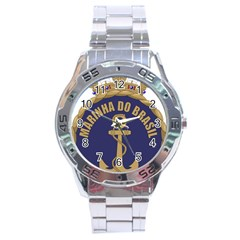 Seal Of Brazilian Navy  Stainless Steel Analogue Watch by abbeyz71