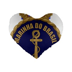 Seal Of Brazilian Navy  Standard 16  Premium Flano Heart Shape Cushions by abbeyz71