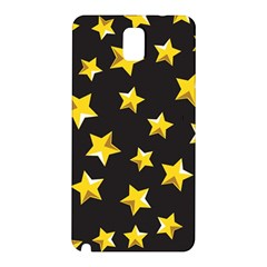 Yellow Stars Pattern Samsung Galaxy Note 3 N9005 Hardshell Back Case by Sapixe