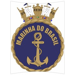 Seal Of Brazilian Navy  Back Support Cushion by abbeyz71