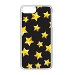 Yellow Stars Pattern Apple iPhone 8 Plus Seamless Case (White) Front