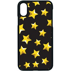 Yellow Stars Pattern Apple Iphone X Seamless Case (black)