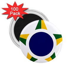 Roundel Of Brazilian Air Force 2 25  Magnets (100 Pack)  by abbeyz71