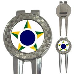 Roundel Of Brazilian Air Force 3 In 1 Golf Divots by abbeyz71