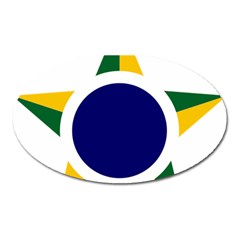 Roundel Of Brazilian Air Force Oval Magnet by abbeyz71
