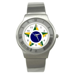 Roundel Of Brazilian Air Force Stainless Steel Watch by abbeyz71