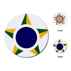Roundel Of Brazilian Air Force Playing Cards (round)  by abbeyz71