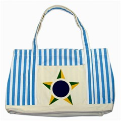 Roundel Of Brazilian Air Force Striped Blue Tote Bag by abbeyz71
