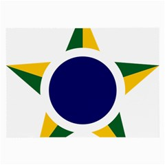 Roundel Of Brazilian Air Force Large Glasses Cloth (2 Side) by abbeyz71