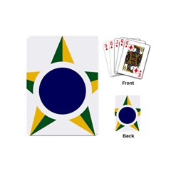 Roundel Of Brazilian Air Force Playing Cards (mini)  by abbeyz71