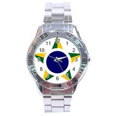 Roundel Of Brazilian Air Force Stainless Steel Analogue Watch by abbeyz71