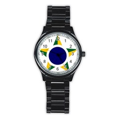 Roundel Of Brazilian Air Force Stainless Steel Round Watch by abbeyz71