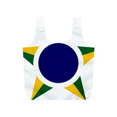 Roundel Of Brazilian Air Force Full Print Recycle Bags (s)  by abbeyz71