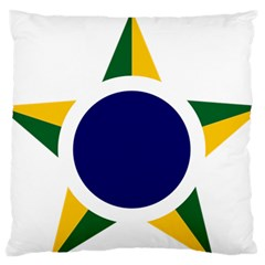 Roundel Of Brazilian Air Force Standard Flano Cushion Case (one Side) by abbeyz71