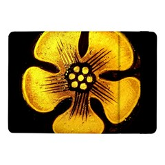Yellow Flower Stained Glass Colorful Glass Samsung Galaxy Tab Pro 10 1  Flip Case by Sapixe