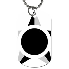 Roundel Of Brazilian Air Force (low Visibility) Dog Tag (one Side) by abbeyz71