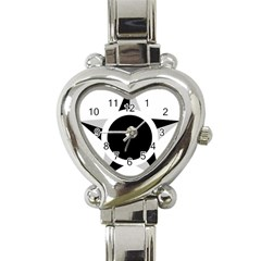 Roundel Of Brazilian Air Force (low Visibility) Heart Italian Charm Watch by abbeyz71