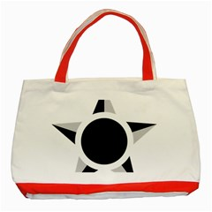 Roundel Of Brazilian Air Force (low Visibility) Classic Tote Bag (red) by abbeyz71
