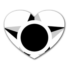 Roundel Of Brazilian Air Force (low Visibility) Heart Mousepads by abbeyz71