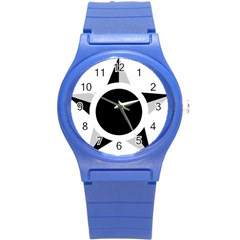 Roundel Of Brazilian Air Force (low Visibility) Round Plastic Sport Watch (s) by abbeyz71