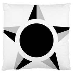 Roundel Of Brazilian Air Force (low Visibility) Large Cushion Case (one Side) by abbeyz71