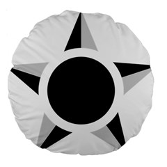 Roundel Of Brazilian Air Force (low Visibility) Large 18  Premium Flano Round Cushions by abbeyz71