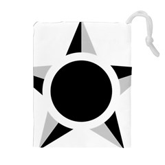 Roundel Of Brazilian Air Force (low Visibility) Drawstring Pouches (extra Large) by abbeyz71