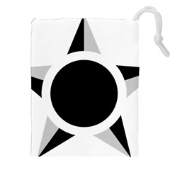 Roundel Of Brazilian Air Force (low Visibility) Drawstring Pouches (xxl) by abbeyz71