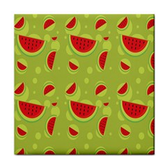 Watermelon Fruit Patterns Face Towel by Sapixe