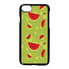 Watermelon Fruit Patterns Apple Iphone 8 Seamless Case (black)