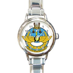 Emblem Of Royal Brunei Air Force Round Italian Charm Watch by abbeyz71