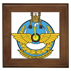 Emblem Of Royal Brunei Air Force Framed Tiles by abbeyz71