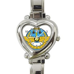 Emblem Of Royal Brunei Air Force Heart Italian Charm Watch by abbeyz71
