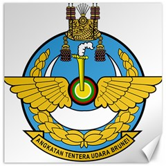 Emblem Of Royal Brunei Air Force Canvas 20  X 20   by abbeyz71