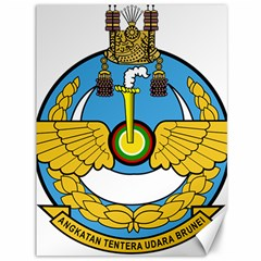 Emblem Of Royal Brunei Air Force Canvas 36  X 48   by abbeyz71