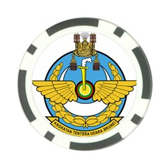 Emblem Of Royal Brunei Air Force Poker Chip Card Guard (10 Pack) by abbeyz71